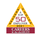 Reader's Choice 2021: A Top 50 Employer; Careers & the disABLED